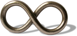 The Concatenator logo in 3d - Stainless steel